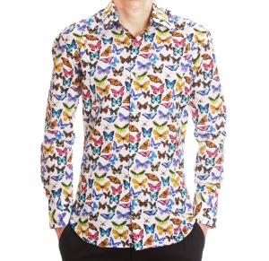 hommes-chemise papillons