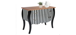 achat-commode-rayee-noir-et-blanc