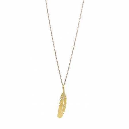 collier-plume-plaque-or