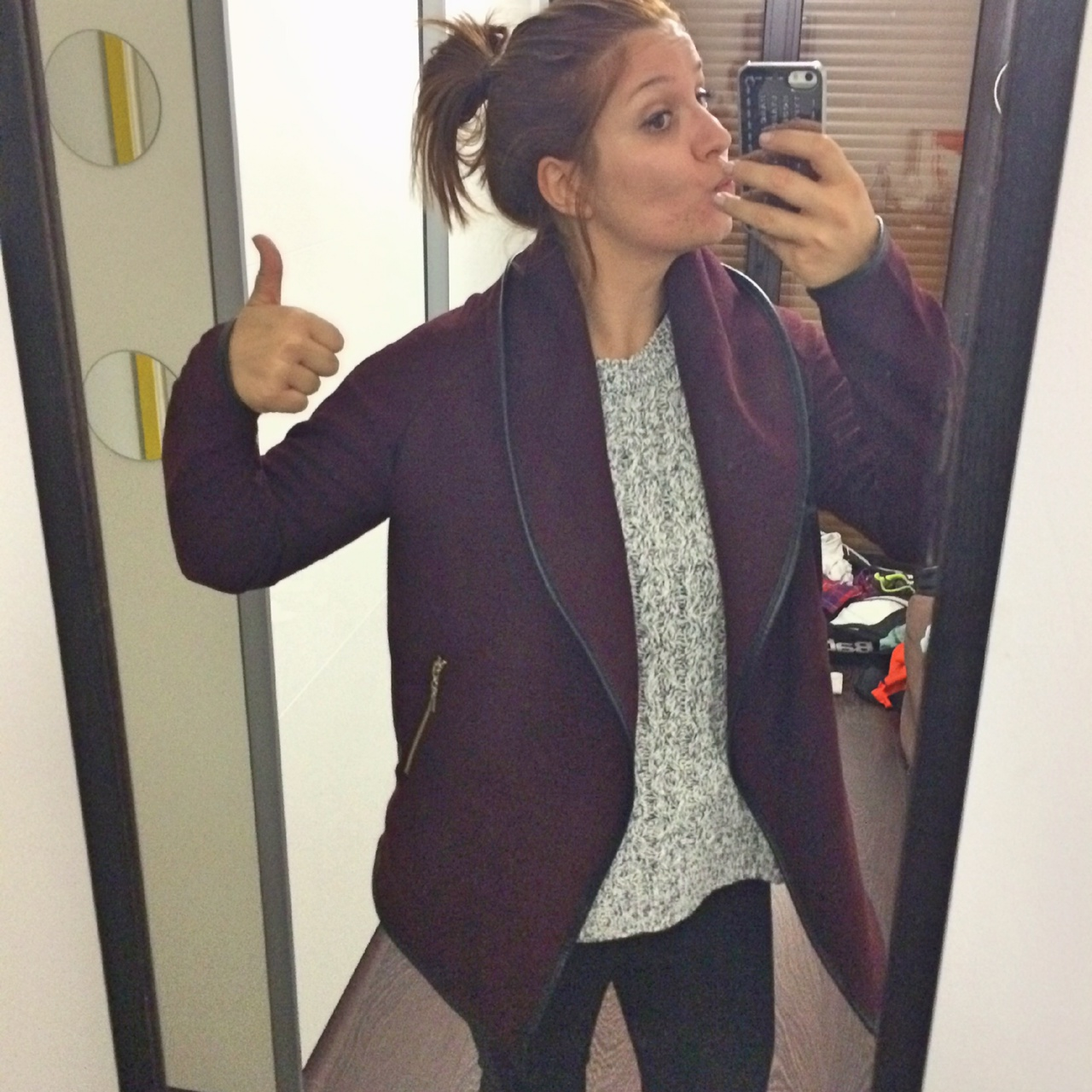Veste loose bordeaux